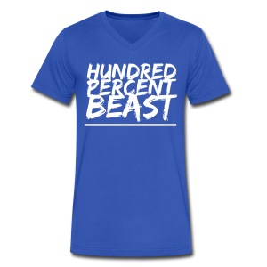 Hundred Percent Beast V-Neck - Men's V-Neck T-Shirt by Canvas