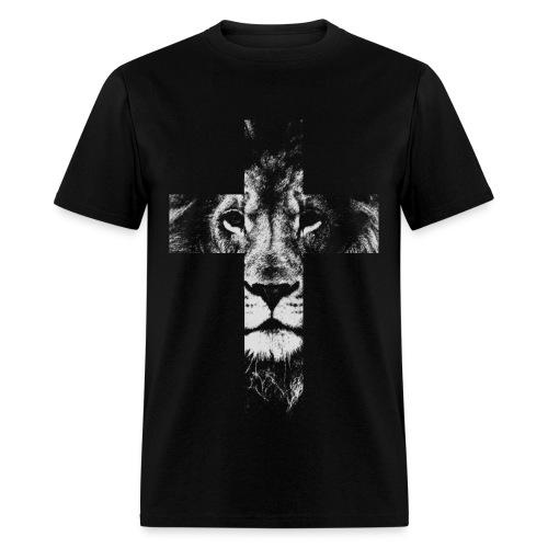 Cross Lion - Men's T-Shirt