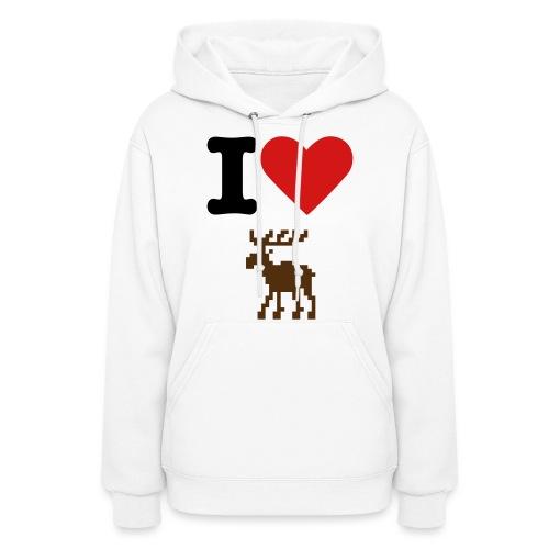 I love Moose - Hoodie - Women's Hoodie