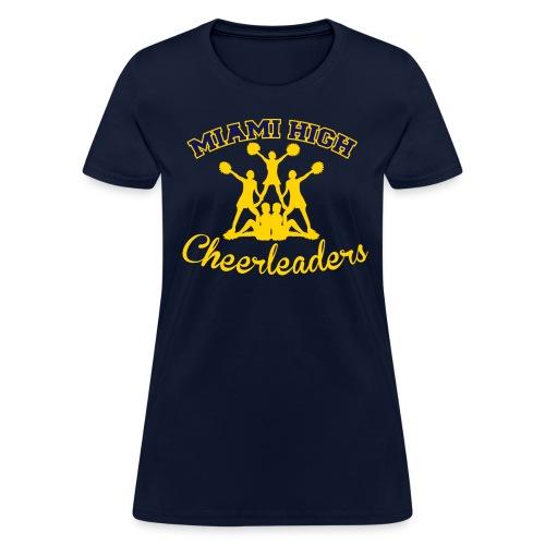 MHS Cheerleaders Customizable Name - in Navy - Women's T-Shirt