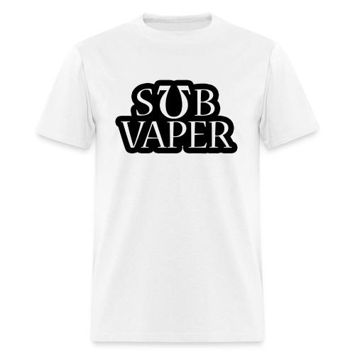Sub Ohm Vaper - Wht Bubble - Men's T-Shirt