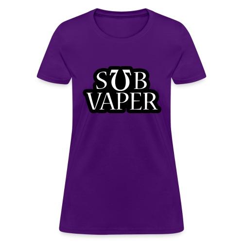 Sub Ohm Vaper - Wht Bubble - Women's T-Shirt