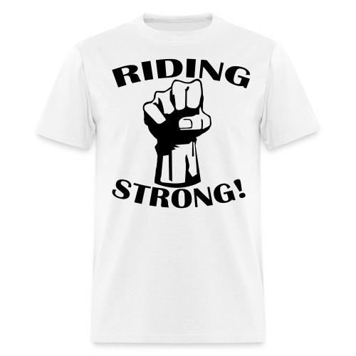 CycleCruza's Men's Ride Strong T-Shirt - All Colors! - Men's T-Shirt