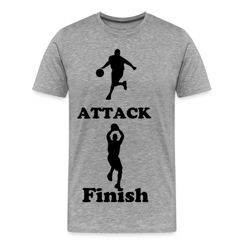 ATTACK FINISH DELIVER TEE - Men's Premium T-Shirt
