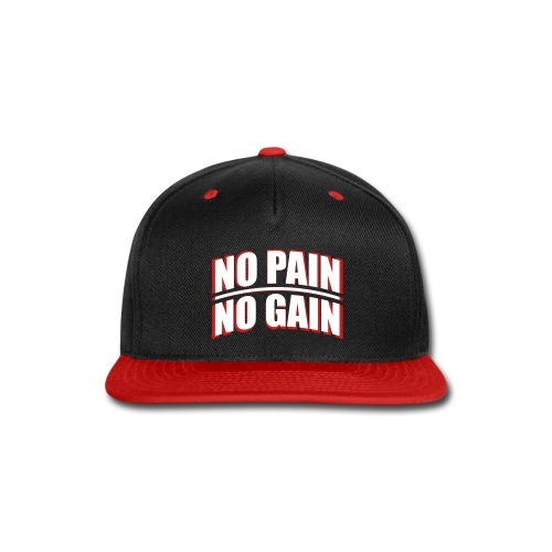 No Pain, No Gain Flat Cap Snapback - Snap-back Baseball Cap