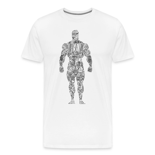 Perfect Form Tee White - Men's Premium T-Shirt