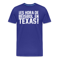 T-Shirts ~ Men's Premium T-Shirt ~ It's Baseball Time in Texas!