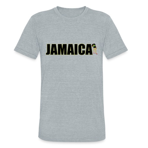 Mens Yellow Outline Jamaica T-shirt - Unisex Tri-Blend T-Shirt