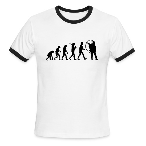 Evolution. Short Arm - Men's Ringer T-Shirt