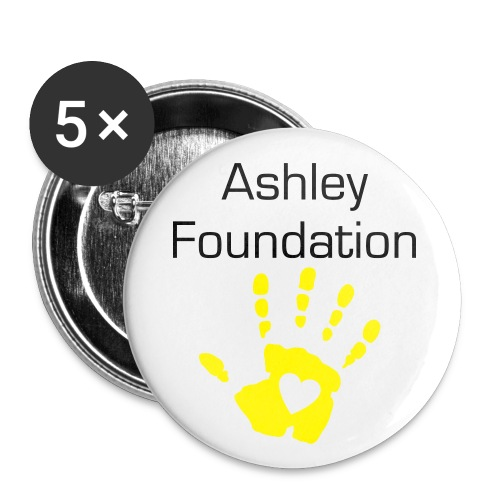 5 Ashley Foundation pins - Small Buttons