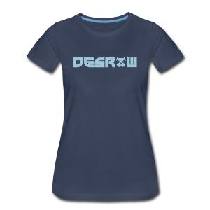 Women's desRow Light Blue Logo Shirt - Women's Premium T-Shirt