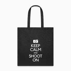 Keep Calm an Shoot on Bags & backpacks