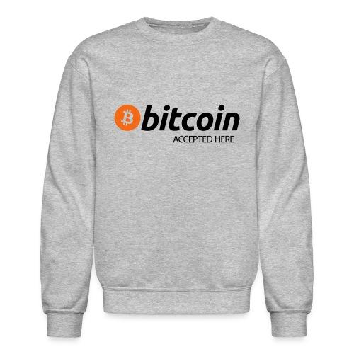 Bitcoin Accepted Here Mens Sweatshirt - Crewneck Sweatshirt