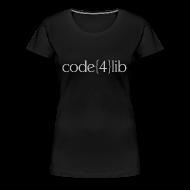 T-Shirts ~ Women's Premium T-Shirt ~ Women's Code4Lib Premium T-Shirt