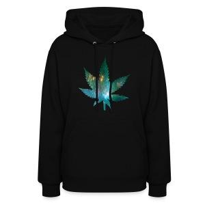 Galaxy Weed Sweatshirt - Women's Hoodie