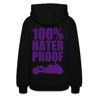 Hoodies ~ Women's Hoodie ~ S&S HATER PROOF PURPLE