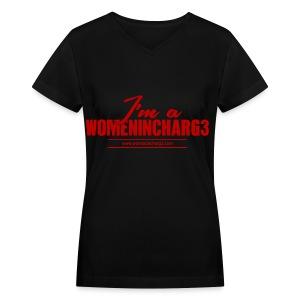 I'm a Womenincharg3 - Women's V-Neck T-Shirt