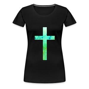 Galaxy Cross Green - Women's Premium T-Shirt