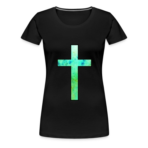 Galaxy Cross Green - Women's Premium T-Shirt