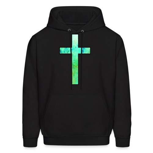 Galaxy Cross Green - Men's Hoodie