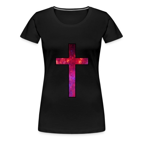 Galaxy Cross Red - Women's Premium T-Shirt