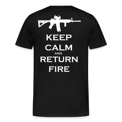 VRI Return fire t-shirt! - Men's Premium T-Shirt