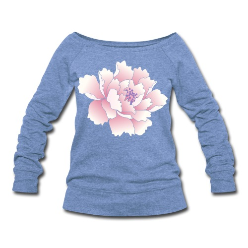 Japanese Peony Top - Women's Wideneck Sweatshirt