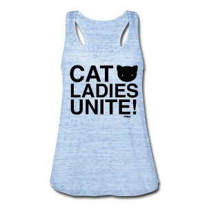 Cat Ladies Unite! - Women's Flowy Tank Top by Bella