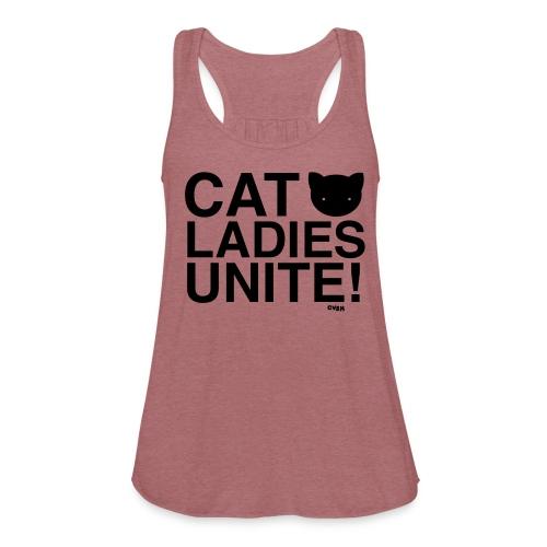 Cat Ladies Unite! - Women's Flowy Tank Top by Bella