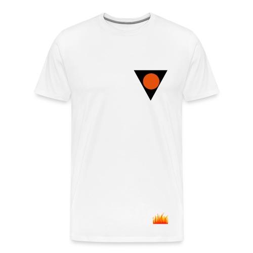 Fire Shirt White - Men's Premium T-Shirt