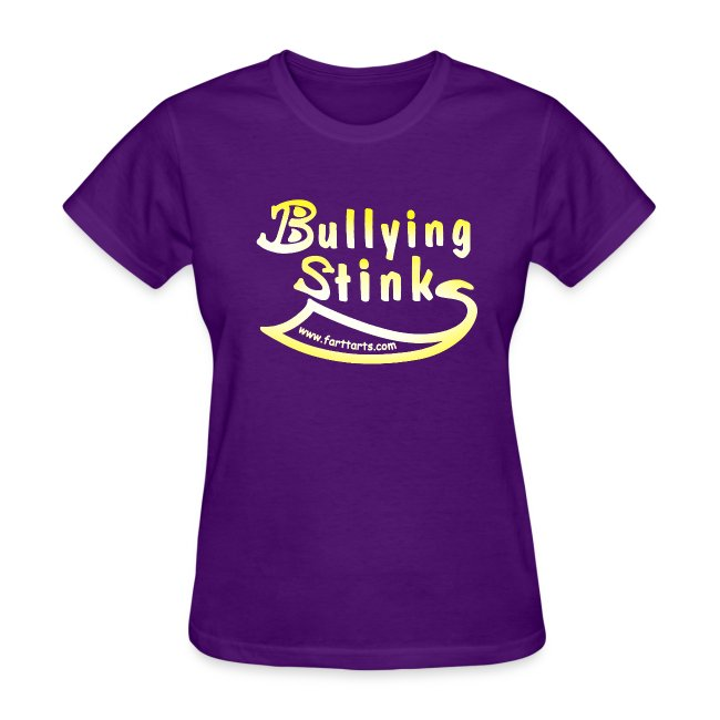 Women's Bullying Stinks, colored text
