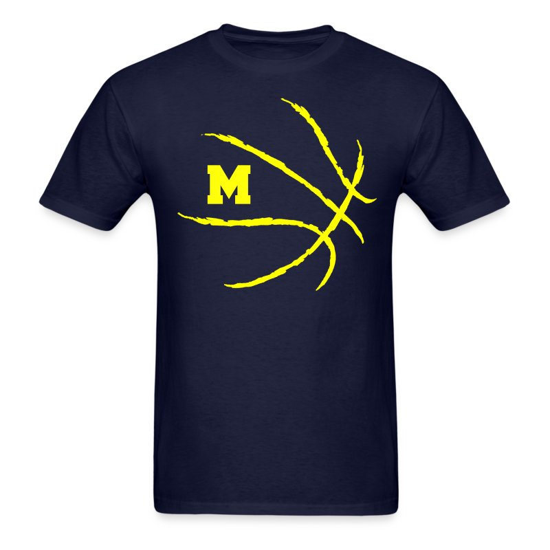 Michigan Basketball Logo T-Shirt | Spreadshirt