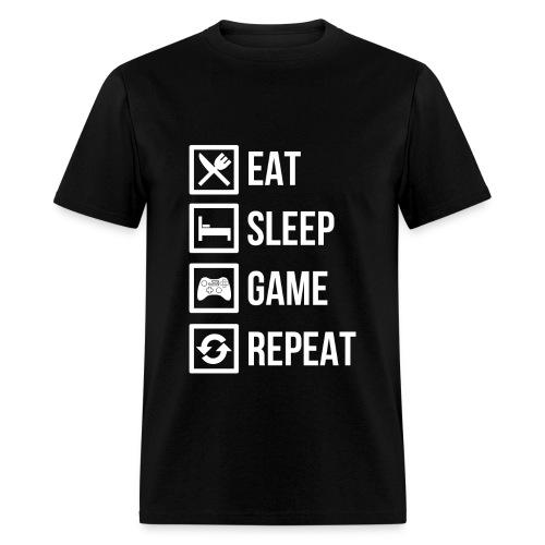 Eat Sleep Game Repeat Mens - Men's T-Shirt