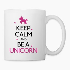 keep calm and be a unicorn Bottles & Mugs