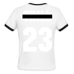 Crossed Out Trill #23 Tee - Men's Ringer T-Shirt