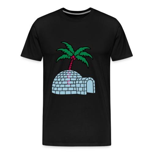 Igloo Palm Tree - Men's Premium T-Shirt