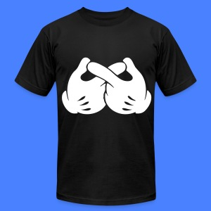 Infinity Hands T-Shirts - Men's T-Shirt by American Apparel