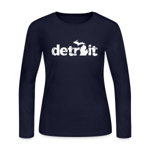 DETROIT-MICHIGAN - Women's Long Sleeve Jersey T-Shirt