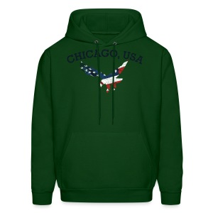 Chicago USA Eagle - Men's Hoodie
