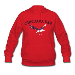 Chicago USA Eagle - Women's Hoodie