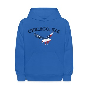 Chicago USA Eagle - Kids' Hoodie