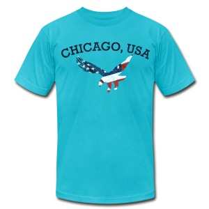 Chicago USA Eagle - Men's T-Shirt by American Apparel