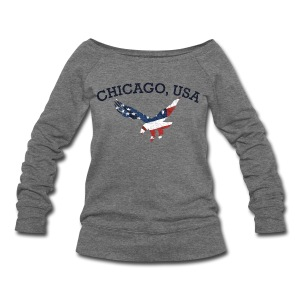 Chicago USA Eagle - Women's Wideneck Sweatshirt