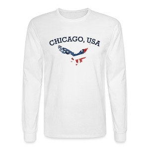 Chicago USA Eagle - Men's Long Sleeve T-Shirt
