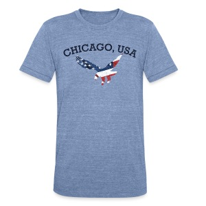 Chicago USA Eagle - Unisex Tri-Blend T-Shirt by American Apparel