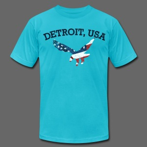 Detroit USA Eagle - Men's T-Shirt by American Apparel