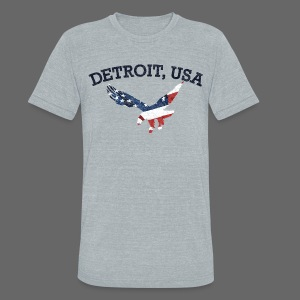 Detroit USA Eagle - Unisex Tri-Blend T-Shirt by American Apparel
