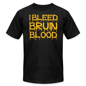 I Bleed Bruin Blood - Men's T-Shirt by American Apparel