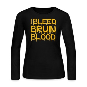 I Bleed Bruin Blood - Women's Long Sleeve Jersey T-Shirt