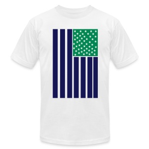 Fresh USA / Seahawks - Men's Fine Jersey T-Shirt